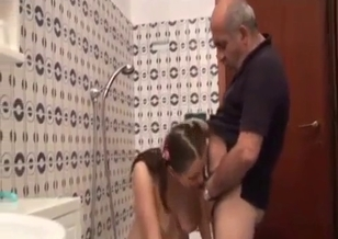 Impressive blowjob by an awesome stepdaughter