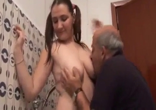 Skillful dad and his big-boobed stepdaughter