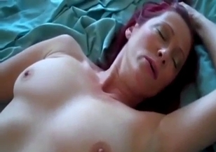 Fucking my redhead stepmom in the missionary pose