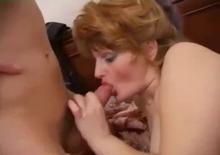 Nephew fucks his slutty auntie in missionary pose