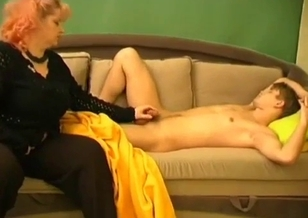Nasty sex action with a horny mom and dirty son