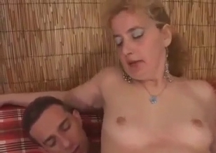 Son with hard cock impales his own mom
