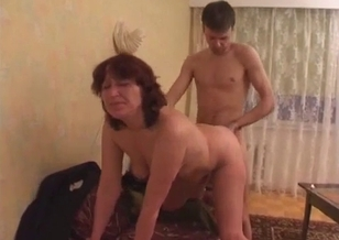 Crazy nephew impaled his slutty aunt from behind