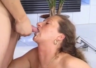 Stepmom with nice face fucks with a lovely son