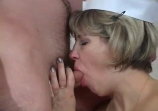 Filthy mom gives a five-star blowjob for a son