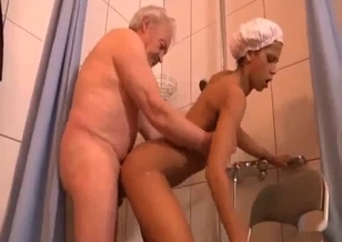 Old man sticks his cock in granddaughter's pussy