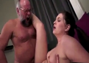 Lovely father and sexy daughter have dirty sex