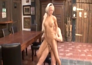 Blonde sister swallows fresh jizz after incest fuck