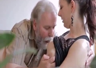 Old man licks a pussy of a young cousin