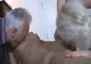 Relatives are licking my juicy shaved cunt