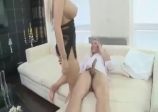 Awesome sister eats brother's big shaft